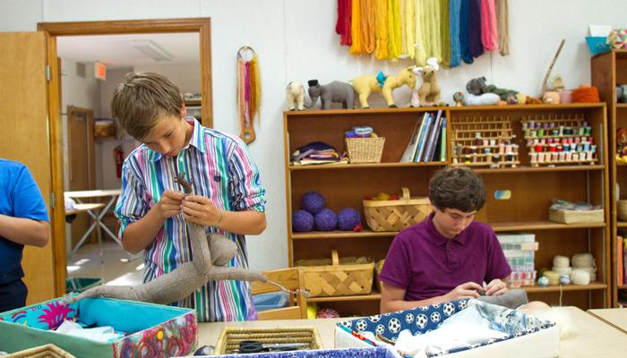 Waldorf school - Fabric work