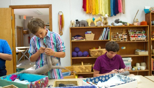 Waldorf school - Fabric work