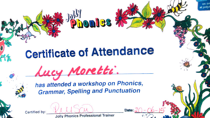 jolly phonics diploma